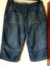 BNWOT** SUPERB MENS MID BLUE 3/4 LENGTH SHORTS...SIZE 34W