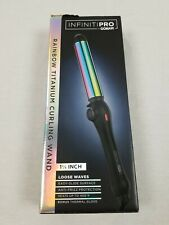 1 1/4 Inch Loose Waves - INFINITIPRO BY CONAIR Rainbow Titanium Curling Wand
