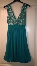 Bay Jade Sequinned Sleveless Dress Size 8