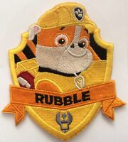 LARGER RUBBLE PAW PATROL   Iron On Patch Buy 2 We Send 3 Of These