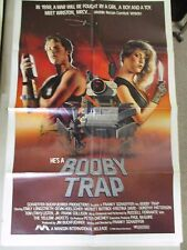 Vtg 1 sheet 27x41 Movie Poster Booby Trap 1986 Emily Longstreth Devin Hoelscher