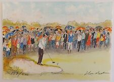 Urbain Huchet Golf La Foule Lithographie originale signée et numérotée 153/500