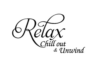 Relax Chill out & Unwind Wall Quotes Wall Stickers Living Room UK 139
