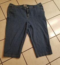 Sag Harbor Ladies size 24W jeans cargo capri  pant EUC
