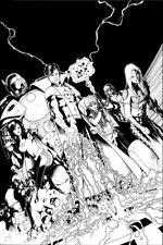 THE ORDER #9 (marvel) COVER by Barry Kitson  OA Original art w/ bonuses Team