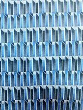 COCKTAIL COLLECTION GEOMETRIC GRAY BLUE SILK NECKTIE TIE MJN0321B #E25