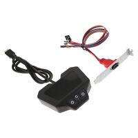 Desktop Computer Case Power Supply Restart Button Switch with Dual USB Port