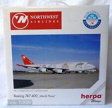 """Herpa Wings 1:200 550208: Boeing 747-400 Nortwest Airlines """"Worldplane"""""""