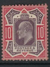 GB. KEVII. SG254 10d 1902dull purple and carminestampMounted mint