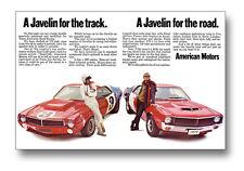24x36 1970 AMC Javelin Trans-Am Ad Poster Man Cave Art AMERICAN MOTORS 1969 390