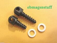 2 Uncle Mikes RIFLE SLING SWIVEL STUD SCREWS for WOOD or SYNTHETIC STOCKS ++ New