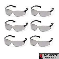 6 Pair Pyramex Ztek Safety Glasses Silver Mirror Lens Sunglasses S2570s Z87