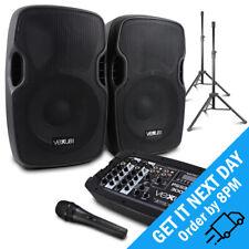 "Vexus PSS302 Passive 10"" Speakers Active Bluetooth Powered USB Mixer System 300W"