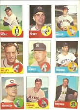 Lot of 12 different 1963 Topps mid and high series (447-576) average vg