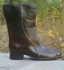 Vintage Women Rubber Rain Boots 9 lined for warmth