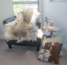 Natural Reindeer Hide Rug,NSW Leather