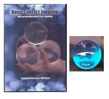 65mm Aqua Blue Contact Juggling ball w/ Basic DVD Learn How To Juggle FREE Ship