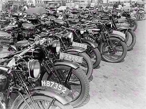 PHOTO VINTAGE TRANSPORT OLD MOTORBIKES MOTORCYCLES LARGE ART PRINT POSTER LF1709
