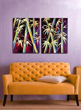 LARGE ORIGINAL OIL  Bamboo Asian  Flowers artist Sherry Price