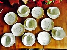17 VINTAGE LS & S CARLSBAD FINE CHINA PINK ROSES 6 CUPS & 11 SAUCERS AUSTRIA
