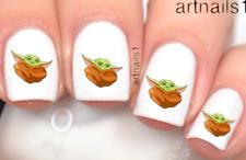 Star Wars Baby Yoda Mandalorian Nail Art Water Decals Stickers Mani Salon Polish