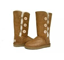 New: UGG Australia Bailey Button Triplet Boots, Chesnut, Size 7