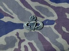 US Military Master Parachutist miniature jump wings badge silver oxide Airborne