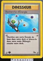 Carte Pokemon RECHERCHE D'ENERGIE 59/62 Commune Fossile Wizard EDITION 1 FR