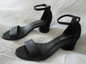 NEXT Ladies Black low block heel strappy shoes U.K. 3.5 (EUR36)