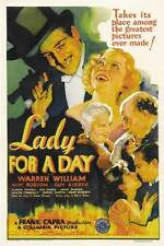 LADY FOR A DAY Movie POSTER 27x40 B Warren William May Robson Guy Kibbee Glenda