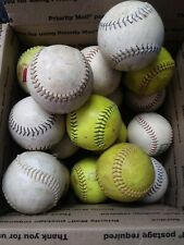 Lot of 20 Softballs, Dick's, Worth, MacGregor, Dudley etc. Nice for Practice.