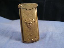 ANTIQUE QUADRUPLE GOLDEN CASKET NEEDLE CASE MORTON SEWING FLEUR D'LYS 1868 BOX