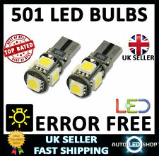 ERROR FREE CANBUS 5 SMD LED XENON HID WHITE W5W T10 501 SIDE LIGHT BULBS
