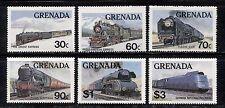 TRAINS, RAILWAYS, LOCOMOTIVES ON GRENADA 1982 Scott 1120-1125 MNH