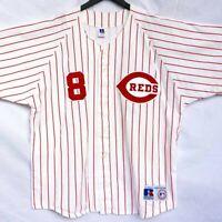 Vtg Russell Cincinnati Reds MLB Baseball Jersey Men's SZ L Made in the USA