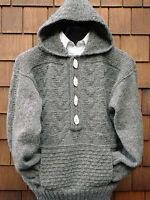 "Ladies Womans Man Textured Aran Jacket -Pockets/Hood  36 - 46"" Knitting Pattern"