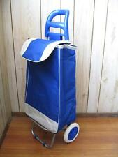 2 in 1 BLUE FOLDING SHOPPING LAUNDRY TROLLEY CART HAND TRUCK