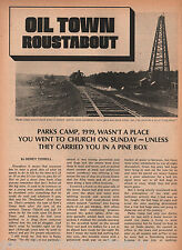 Oil Town Roustabout Kid Of Parks Camp, Texas; Dewey Tidwell