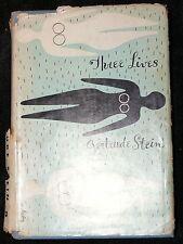 GERTRUDE STEIN THREE LIVES MODERN LIBRARY 1933 INTRODUCTION CARL VAN VECHTEN
