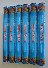 LUCKY COIN INCENSE,BULK BUY 120 STICKS,6 PACKETS,FREE POSTAGE