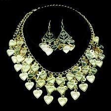 Bollywood Bauchtanz Belly Dance Schmuckset Kette + 1 Paar Ohrringe Goldmünzen