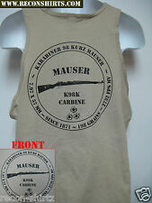 MAUSER RIFLE TANK TOP/ T-SHIRT/ M98 8MM. / MILITARY/ NEW