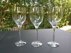 """Set of 3 Orrefors Sweden Illusion Clear Water Goblets 8 1/4"""" Good Condition"""