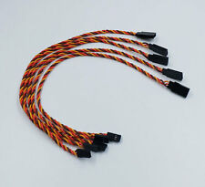 5pcs Heavy Duty Servo Extension Twisted Wire 22AWG 18in/45cm (JR/Hitec/Spektrum)