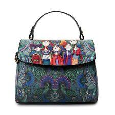 New Fashion Cartoon Square Dark Green Stylish messenger  Shoulder Bag -Au Seller