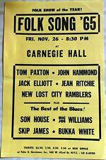 Son House - Skip James at Carnegie Hall.  Blues concert flyer November 26, 1965