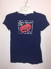 J.CREW Women's SIZE XS Navy Casual Graphic T Tee Shirt Top French Lips Kissing