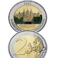 Deutschland 2 Euro 2007 Mecklenburg Vorp. A Farbmünze gekapselt Unc. / 9470588vv