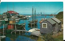 1983 postcard,Harbor Reflections,request for catalog from Old West Antique