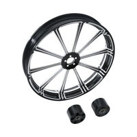 "23""x3.5"" CNC Front Wheel Rim Dual Disc Wheel Hub Fit For Harley Road Glide 08-19"